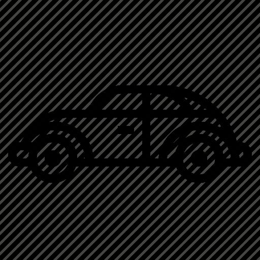 automobile, car, retro, transportation, van icon