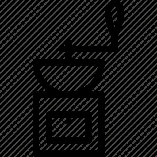 beverage, coffee, cup, drink, grinder icon