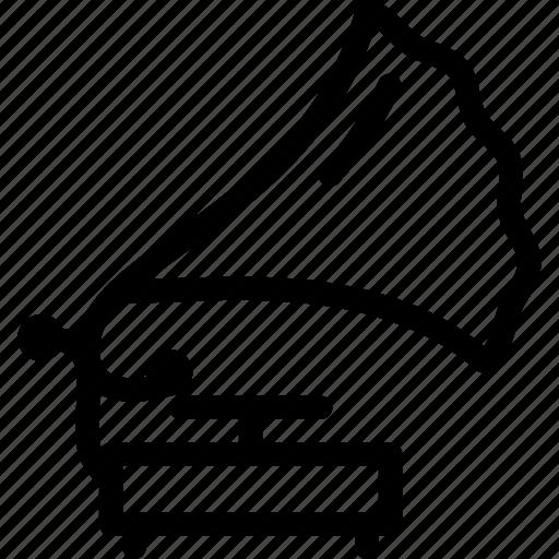 gramophone, instrument, music, record, speaker icon
