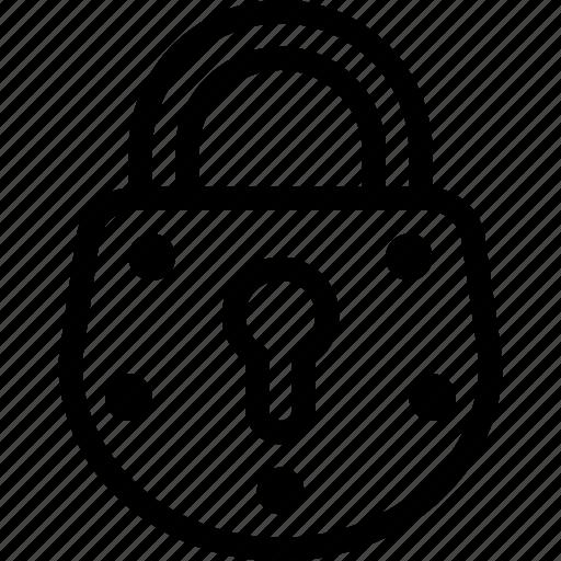 key, lock, padlock, protection, security icon