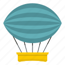 dirigible, transportation, balloon, sky, air, hot, airship icon