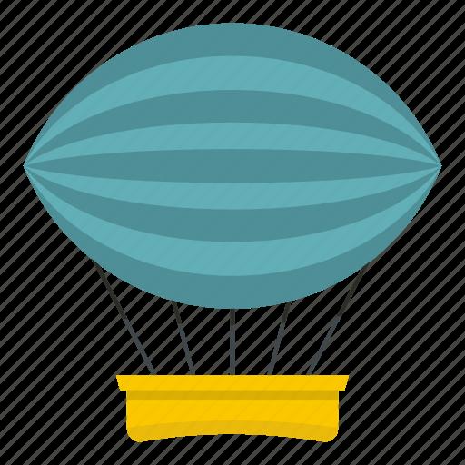 air, airship, balloon, dirigible, hot, sky, transportation icon
