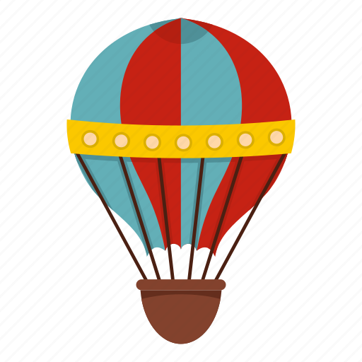 Air Balloon Basket Hot Sky Transportation Travel Icon