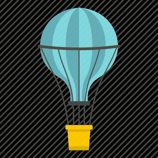 air, balloon, basket, hot, sky, transportation, travel icon