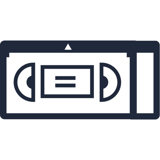 movie, play, record, tape, video icon