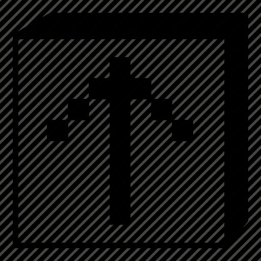 arrow, box, interface, minimal, retro, ui, up icon