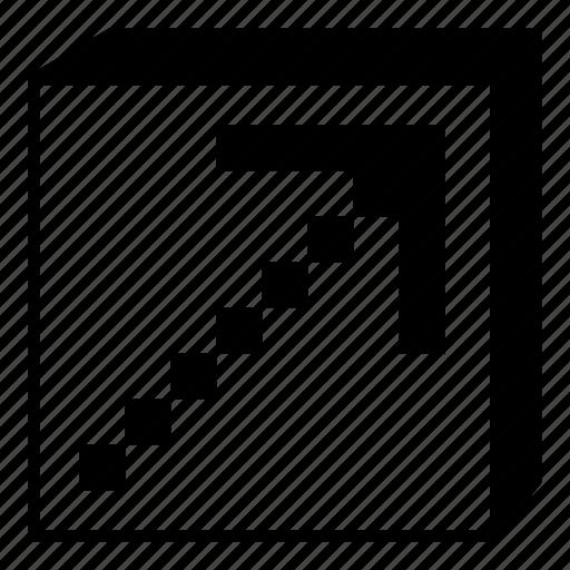 arrow, box, interface, minimal, retro, right, up icon