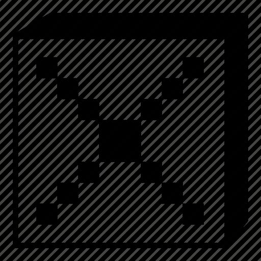 box, close, cross, interface, minimal, retro, ui icon