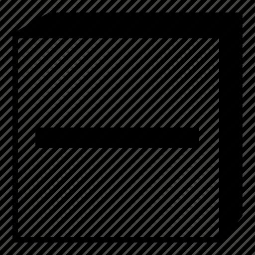 box, interface, line, minimal, minimize, retro, ui icon