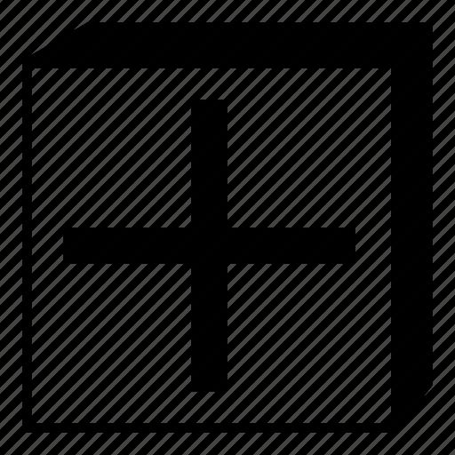 box, element, interface, minimal, plus, retro, ui icon