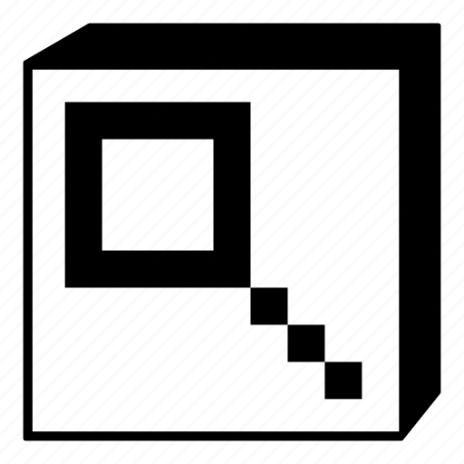 box, interface, looking glass, minimal, retro, search, ui icon