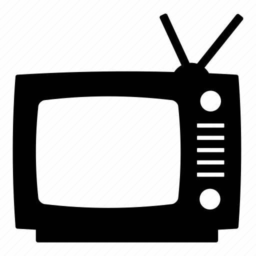 antenna, old tv, retro tv, television, tv, vintage, vintage tv icon