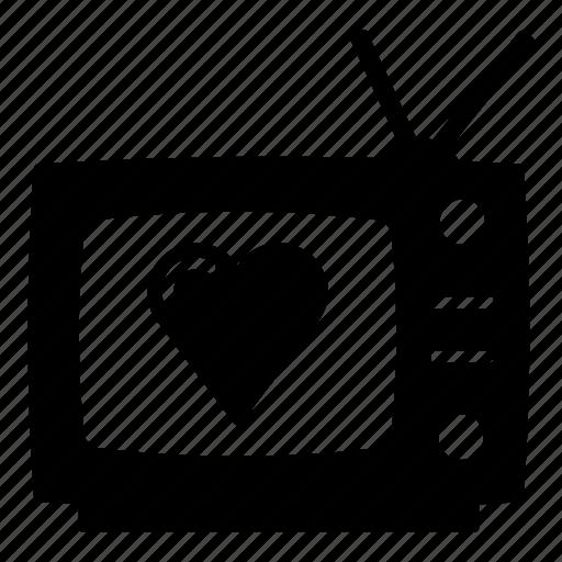 electronics, retro, retro tv, romance, television, tv, tv show icon
