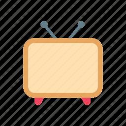antenna, broadcast, channels, media, retro, television, tv icon