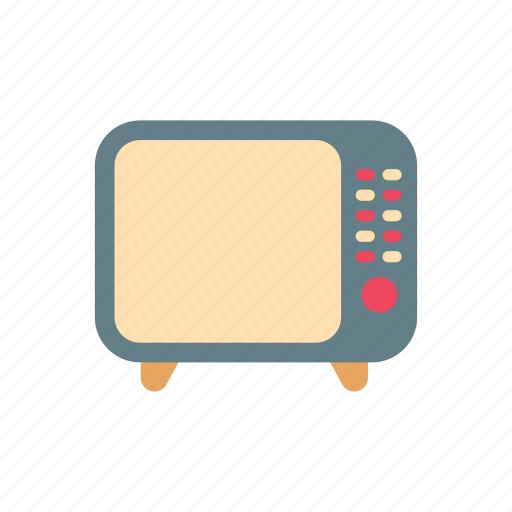 broadcast, buttons, channels, media, retro, television, tv icon