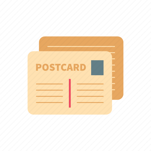 mailing, message, post, postcard, retro, stamp, vintage icon