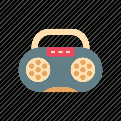 cassette, music, player, radio, recorder, retro, vintage icon