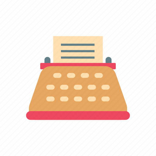 antique, old, retro, text, typewriter, typing machine, vintage icon
