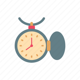 clock, hour, retro, time, timepiece, vintage, watch icon