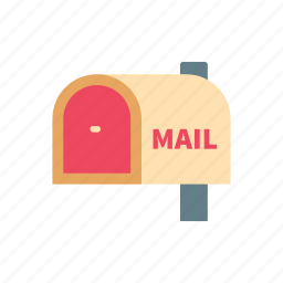 communication, letter, mail, mailbox, message, post, retro icon
