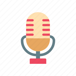 broadcast, karaoke, microphone, retro, speech, studio, vintage icon