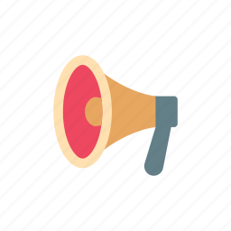 announce, loud, megaphone, promotion, retro, shout, vintage icon
