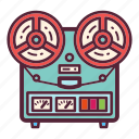 audio, music, recorder, retro, sound, tape, vintage icon