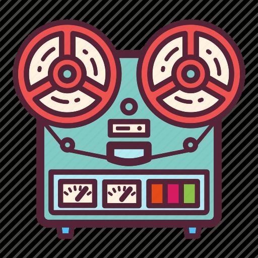 audio, music, recorder, retro, sound, tape, vintage icon