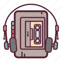 audio, cassette, music, player, retro, sound, walkman icon