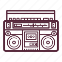 audio, boombox, music, retro, stereo, style, tape icon