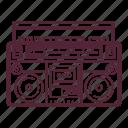 audio, boombox, music, retro, stereo, style, tape