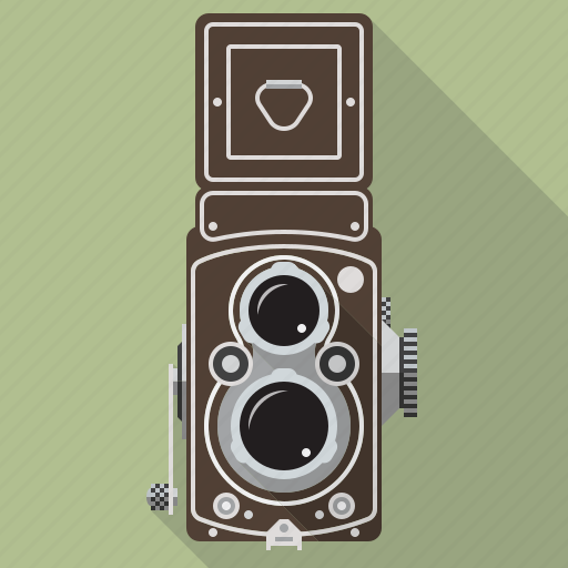 camera, equipment, photography, retro, technology, twin lens, vintage icon