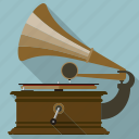 equipment, gramophone, music, record, retro, turntable, vintage icon