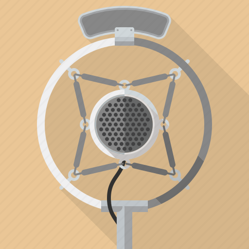 equipment, microphone, music, retro, sound, technology, vintage icon