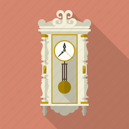 equipment, pendulum, regulator, retro, time, vintage, wall clock icon