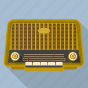 audio, broadcasting, equipment, radio, receiver, retro, vintage icon