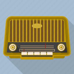audio, broadcasting, equipment, radio, receiver, retro, vintage icon