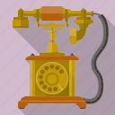 communication, dial, equipment, retro, technology, telephone, vintage icon