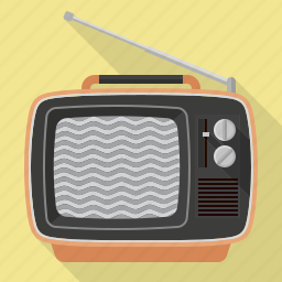 equipment, portable, retro, technology, television, tv set, vintage icon