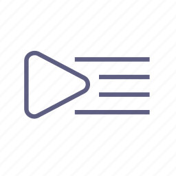 catalog, library, list, menu, playlist, video, watch list icon