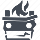 arson, fire, flame, revolution icon