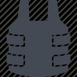 bulletproof vest, protection, revolution, vest icon