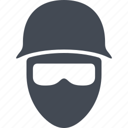 balaclava, disguise, helmet, revolution icon