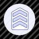 sergeant, badge, rank, insignia, rewards, black, ranking