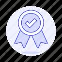badge, check, coin, rewards, ribbon, winner