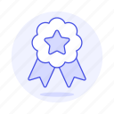 2, badge, coin, rewards, ribbon, star, winner icon