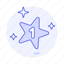gold, number, one, rating, rewards, star, 1 icon