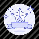 banner, red, rewards, ribbon, sparkle, star, strip icon