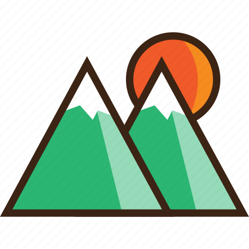 climbing, holiday, landscape, mountains, tourism, travel icon