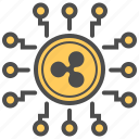 blockchain, crypto, cryptocurrency, mining, ripple icon